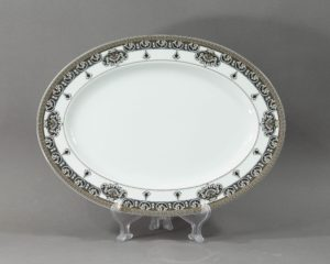 marqueterie large oval platter