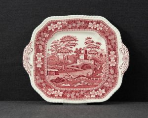 Spode's Tower square dish