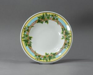 A Rosenthal Versace Ivy Soup Plate.