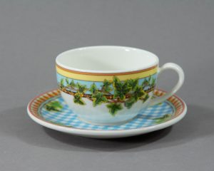 A Rosenthal Versace Ivy Leaves Passion Teacup.
