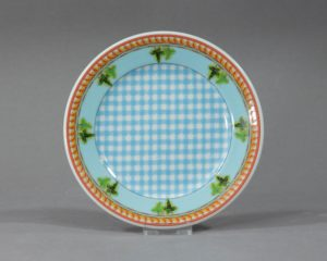 A Rosenthal Versace Ivy Leaves Cake plate.