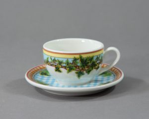 A Rosenthal Versace Ivy Leaves coffee cup.
