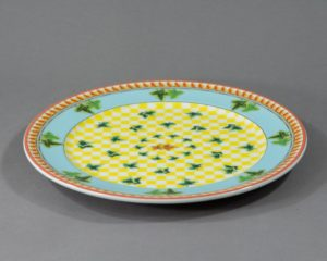 A Rosenthal Versace Ivy Leaves Round Serving Platter.