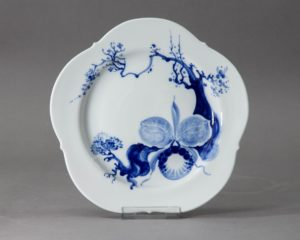 A Meissen Blue Orchid Lunch Plate.