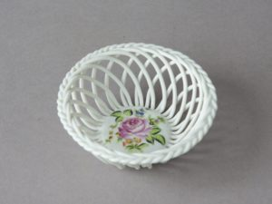 Herend Hungary - Braided Porcelain Basket