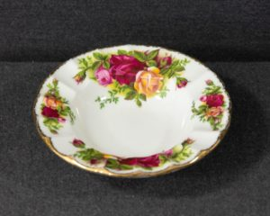 old country roses ashtray