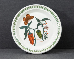 A Portmeirion The Botanic Garden 'Red Peppers' lunch plate.