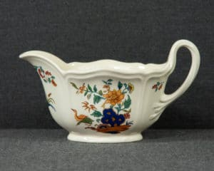 A Wedgwood Chinese Teal Sauce Boat.