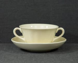 A Wedgwood Queens Plain Soup Cup and Saucer.