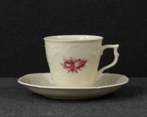 A Rosenthal Sanssouci Vienna Rose Coffee Cup and Saucer.