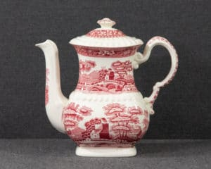 Spode's Tower Red Coffee Pot