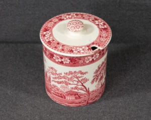 Spode's Tower Red Sugar Bowl