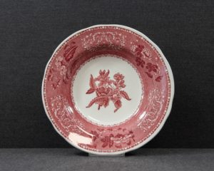 spode pink camilla soup plate