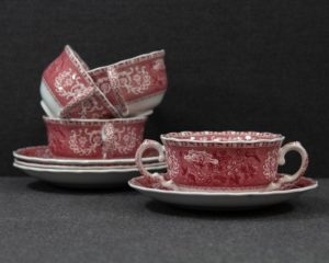 spode pink camilla soup cup