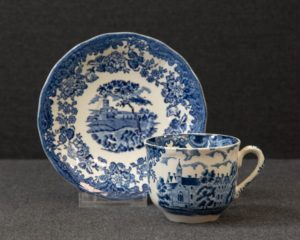 A Royal Worcester / Pallisy Avon Scenes Blue Teacup and Saucer.