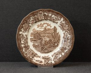 A Royal Worcester / Pallisy Avon Scenes Brown Lunch Plate.