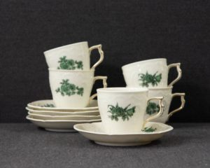 green flower coffee cup