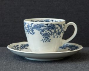 A Villeroy & Boch Valeria Blue Coffee Cup and saucer.