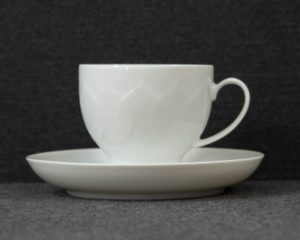 lotus white coffee cup
