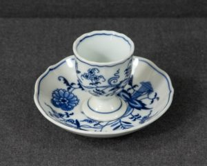 A Blue Danube Egg Cup and Saucer.