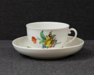 A Nymphenburg Coffee Cup and Saucer.