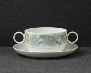 A Rosenthal Studio-Line Duo 'Loire' Soup Cup and Saucer.