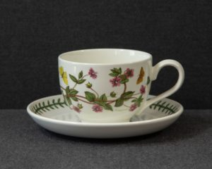 A Portmeirion The Botanic Garden 'Pimpernel' Breakfast Cup and Saucer.